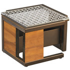 Cal-Mil 3916-84 Sierra Bronze Metal and Reclaimed Wood Chafer Alternative - 10 1/2 inch x 10 1/2 inch x 7 1/8 inch
