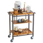 Cal-Mil 3913-84 Sierra Bronze Metal and Reclaimed Wood 3 Shelf Beverage Cart - 36