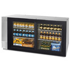Beverage-Air BB58GS-1-S-LED-WINE 58 inch Stainless Steel Pass-Through Sliding Glass Door Back Bar Wine Refrigerator