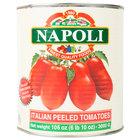 Napoli Foods #10 Canned Whole Peeled Italian Tomatoes   - 6/Case