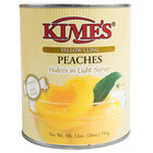 Kime's 28 oz. Premium Canned Peach Halves in Light Syrup - 24/Case