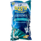 Bos'n Shrimp 2 lb. Bag 21-25 Count IQF Peeled and Deveined Tail On White Shrimp   - 5/Case