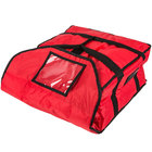 Rubbermaid FG9F3600RED ProServe Medium Red Insulated Nylon Pizza Delivery Bag - 18 inch x 17 1/4 inch x 7 3/4 inch