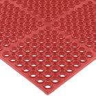 San Jamar KM2200B Tuf-Mat 3' x 5' Red Grease-Proof Bagged Floor Mat - 3/4