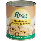 Regal Mushroom Pieces & Stems - #10 Can - 6/Case