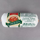 Carolina Turkey Ground Turkey Chub 1 lb. Chub - 12/Case