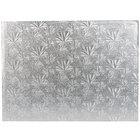Enjay 1/4-13341834S 18 3/4 inch x 13 3/4 inch Fold-Under 1/4 inch Thick Half Sheet Silver Cake Board - 12/Case