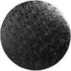 Enjay 1/2-14RB12 14 inch Fold-Under 1/2 inch Thick Black Round Cake Drum - 12/Case