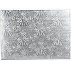 Enjay 1/4-9341334S 13 3/4 inch x 9 3/4 inch Fold-Under 1/4 inch Thick Quarter Sheet Silver Cake Board - 12/Case