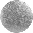Enjay 1/4-12RS24 12 inch Fold-Under 1/4 inch Thick Silver Round Cake Drum - 24/Case
