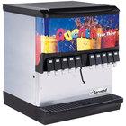 Servend 2705006 SV-200 10 Valve Push Button Countertop Ice/Beverage Dispenser with 200 lb. Ice Storage