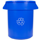 Continental 2000-1 Huskee 20 Gallon Blue Recycling Trash Can