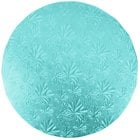 Enjay 1/2-10RBLUE12 10 inch Fold-Under 1/2 inch Thick Blue Round Cake Drum - 12/Case
