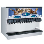Servend 2706224 MDH-302 12 Valve Push Button Countertop Ice/Beverage Dispenser with Icepic and 300 lb. Ice Storage