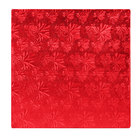 Enjay 1/2-12SRED12 12 inch Fold-Under 1/2 inch Thick Red Square Cake Drum - 12/Case