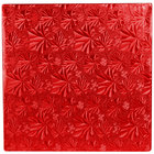 Enjay 1/2-10SRED12 10 inch Fold-Under 1/2 inch Thick Red Square Cake Drum - 12/Case