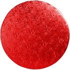 Enjay 1/2-14RRED12 14 inch Fold-Under 1/2 inch Thick Red Round Cake Drum - 12/Case