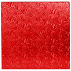 Enjay 1/2-14SRED12 14 inch Fold-Under 1/2 inch Thick Red Square Cake Drum - 12/Case
