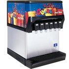 Servend 2706057 CEV-30 6 Valve Post-Mix Push Button Countertop Beverage Dispenser with Internal Carbonation System