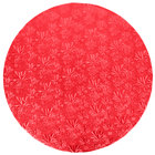Enjay 1/2-18RRED12 18 inch Fold-Under 1/2 inch Thick Red Round Cake Drum - 12/Case