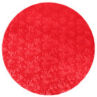 Enjay 1/2-16RRED12 16 inch Fold-Under 1/2 inch Thick Red Round Cake Drum - 12/Case