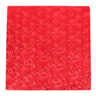 Enjay 1/2-16SRED12 16 inch Fold-Under 1/2 inch Thick Red Square Cake Drum - 12/Case