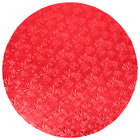 Enjay 1/2-20RRED12 20 inch Fold-Under 1/2 inch Thick Red Round Cake Drum - 12/Case