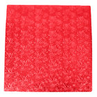 Enjay 1/2-18SRED12 18 inch Fold-Under 1/2 inch Thick Red Square Cake Drum - 12/Case