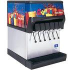 Servend 2706056 CEV-30 6 Valve Post-Mix Sanitary Lever Countertop Beverage Dispenser with Internal Carbonation System