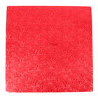 Enjay 1/2-20SRED12 20 inch Fold-Under 1/2 inch Thick Red Square Cake Drum - 12/Case