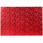 Enjay 1/2-17122512RED12 25 1/2 inch x 17 1/2 inch Fold-Under 1/2 inch Thick Full Sheet Red Cake Board - 12/Case