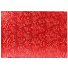 Enjay 1/2-9341334 13 3/4 inch x 9 3/4 Fold-Under 1/2 inch Thick Quarter Sheet Red Cake Board - 12/Case