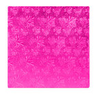 Enjay 1/2-12SPINK12 12 inch Fold-Under 1/2 inch Thick Pink Square Cake Drum - 12/Case