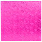 Enjay 1/2-14SPINK12 14 inch Fold-Under 1/2 inch Thick Pink Square Cake Drum - 12/Case