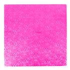 Enjay 1/2-20SPINK12 20 inch Fold-Under 1/2 inch Thick Pink Square Cake Drum - 12/Case