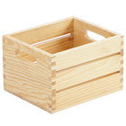 American Metalcraft WCN7 Natural Wood Caddy - 7 1/2 inch x 6 1/4 inch x 4 3/4 inch