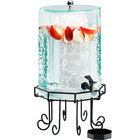 Cal-Mil 932-2 Glacier Acrylic 2 Gallon Octagonal Beverage Dispenser with Ice Chamber