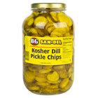 B&G San-Del 1 Gallon Kosher Dill Crinkle Cut Pickle Chips - 4/Case