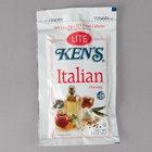 Ken's Foods 1.5 oz. Lite Italian Dressing Packet - 60/Case