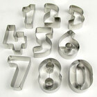 Ateco 7803 10-Piece 3 inch Stainless Steel Numbers Cutter Set (August Thomsen)