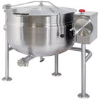 Cleveland KDL-40-TSH Short Series 40 Gallon Tilting Full Steam Jacketed Direct Steam Kettle
