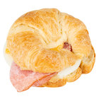 Lettieri's 4.1 oz. Egg, Ham, and Cheese Breakfast Croissant Sandwich - 12/Case