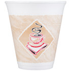 Dart Solo 12X16G 12 oz. Squat Espresso Customizable Foam Cup - 1000/Case
