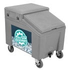 IRP 3100006 Grey Ice Caddy 100 lb. Mobile Ice Bin with Custom Graphic