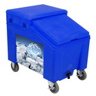 IRP 3100004 Blue Ice Caddy 100 lb. Mobile Ice Bin with Custom Graphic