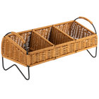 Natural 3 Compartment Rectangular Display Basket