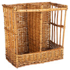 Natural Two Compartment Rectangular Wicker Display Basket - 21
