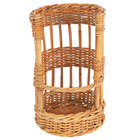 Natural Round Wicker Display Basket - 12