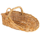Natural Oblong Wicker Display Basket with Handles - 21