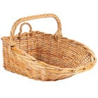 Natural Oblong Wicker Display Basket with Handles - 24